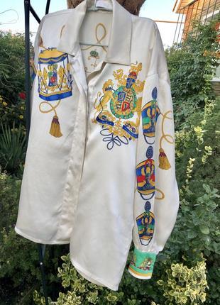 Оригинальная /статусная/ эксклюзивная /винтажная блуза , 100% шёлк ☘️