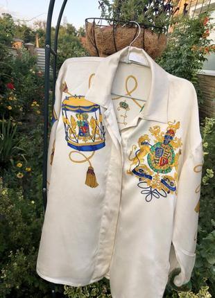 Оригинальная /статусная/ эксклюзивная /винтажная блуза , 100% шёлк ☘️2 фото