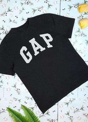 🎁1+1=3 фирменная черная женская футболка gap, размер 44 - 46