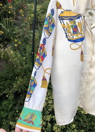 Оригинальная /статусная/ эксклюзивная /винтажная блуза , 100% шёлк ☘️3 фото