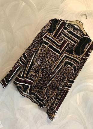 🔥🔥🔥sale 🔥🔥🔥 блуза с красивым принтом f&f