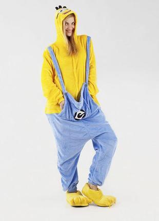 🎁подари тепло❤мягкие тёплые пижамы кигуруми миньон minion2 фото