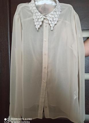 Нюдовая блузка