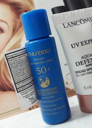 Солнцезащитный лосьон крем shiseido spf 50+