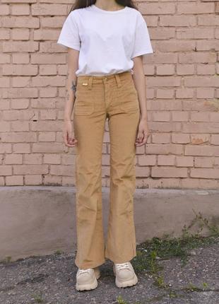 Винтажные вельветовые flare flared клёш штаны джинсы брюки levis stella mccartney
