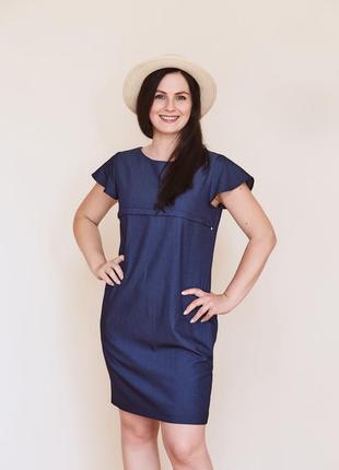 Сукня джинсова синього кольору.