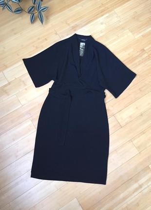 Элегантное чёрное платье-миди
