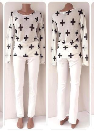 """Стильный брендовый легкий свитер """"h&m"""". размер uk8/eur36."""