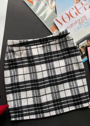 👗классная тёплая юбка/клетчатая тёплая юбка/тёплая короткая юбка шерсть в клетку👗