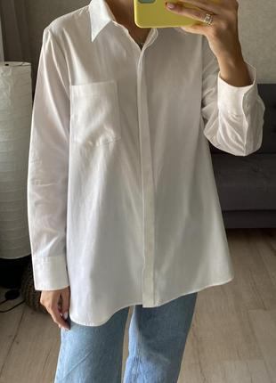 Базовая хлопковая плотная рубашка next