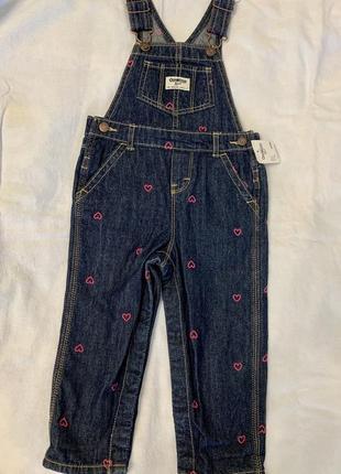 Новый джинсовый комбинезон osh kosh