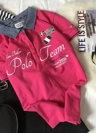 Футболка поло tom tailor polo team
