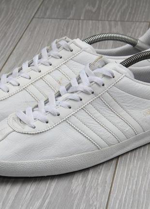 Кроссовки adidas gazelle оригинал белые кожаные размер 44 кожа