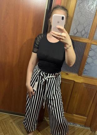 Новые брюки-кюлоты в полоску, полосатые кюлоты