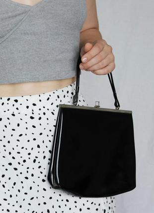 Чёрная винтажная винтаж сумка сумочка клатч в стиле celine