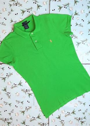 🎁1+1=3 брендовая женская зеленая футболка поло ralph lauren, размер 46 - 48