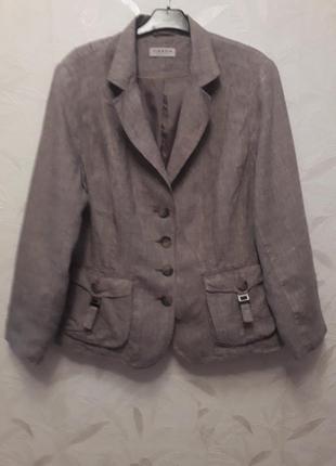 Лёгкий, дышащий пиджак из льна, 52-54-56, лён, canda, c&a