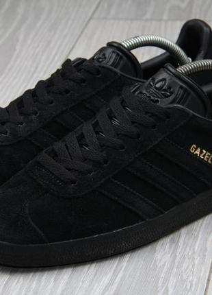 Кроссовки adidas gazelle чёрные оригинал замшевые размер 41 замш samba