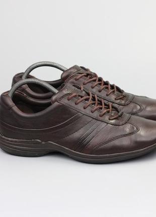 Фирменные кожаные кроссовки в стиле ecco geox