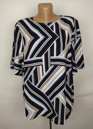 Блуза вискозная красивая в геометрический прнит new look uk 16/44/xl