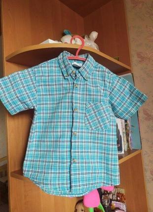 Продам красивую летнюю рубашку на мальчика 3-4 года