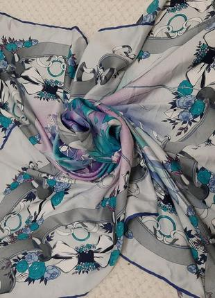 Большой шикарный платок zareffi, натуральный шелк,  86х89