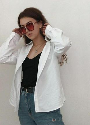 Продам белую рубашку оверсайз в идеальном состоянии