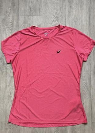 Кораловая спортивная футболка asics.  оригинал размер xl.