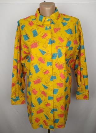Блуза рубашка фланелевая в принт под винтаж st. bernard uk 10/38/s