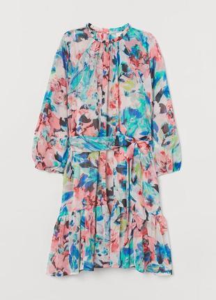 Новое шифоновое платье  h&m