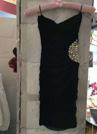 Платье- бандо для очень стройной девушки tally weijl, xxs!
