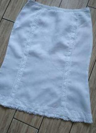 Красивая нежная натуральная юбка миди юбочка