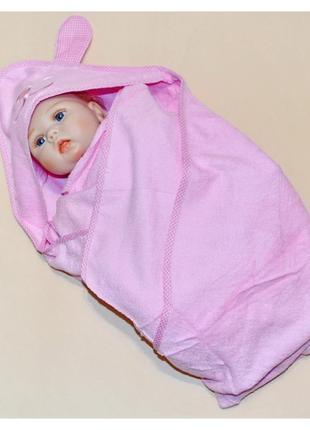 Махровое полотенце для купания малышей