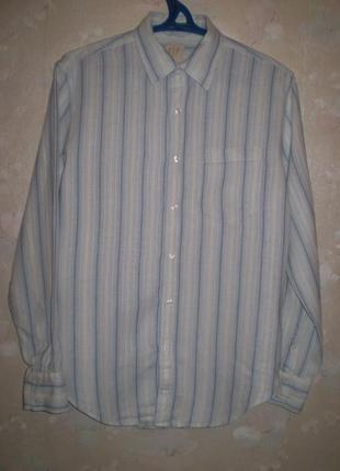Льняная рубашка gap р.m-l 46-48 мужская лен длинный рукав