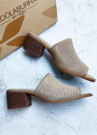Koolaburra by ugg замшевые босоножки сабо на удобном каблуке