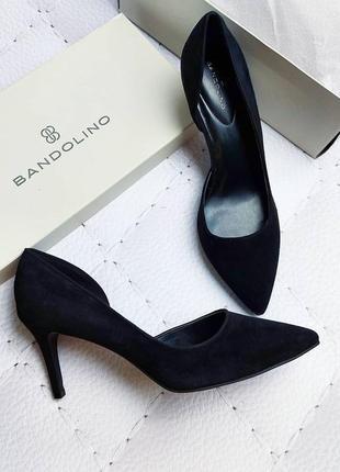 Bandolino оригинал черные замшевые туфли лодочки д'орсей на шпильке