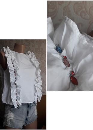 Топ стразы блестящий,футболка, блузка,майка