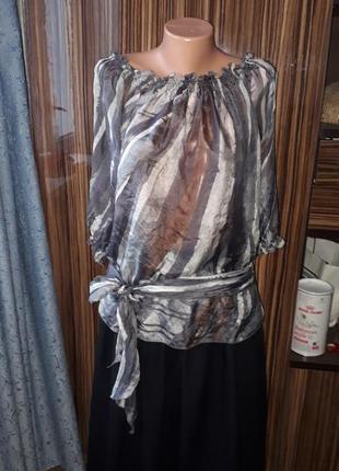 Шёлковая блузка imperial италия размер m,l