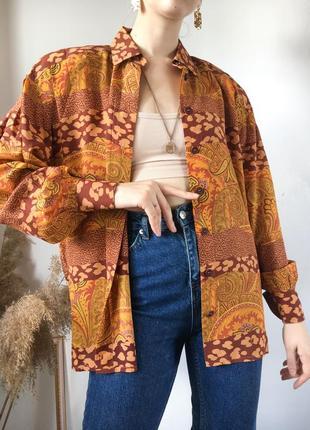 100% шёлк винтажная блуза escada шёлковая с пышными рукавами свободная оверсайз люкс