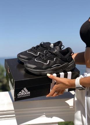 Кроссовки adidas ozweego black / reflective с рефлективными вставками 🔥sale🔥