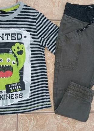 Стильный комплект: красивый модный реглан кофта кофточка и джинсы joggers хаки