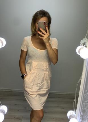 Хлопковое платье mango с карманами