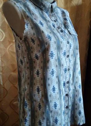 Стильная коттоновая рубашка без рукавов