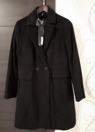 Новое пальто 3 in 1 add италия шерсть+кашемир+жилет 100% пух куртка пуховик утеплённое