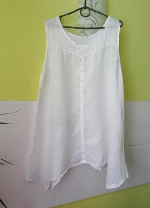 Блуза блузка льняная италия