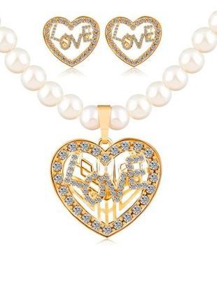 🏵комплект бижутерии ожерелье и серьги, новый! арт. 2614