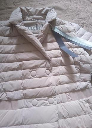 Новое пальто на пуху add оригинал 100% пух пуховик курка италия пудра 46-48 премиум адд