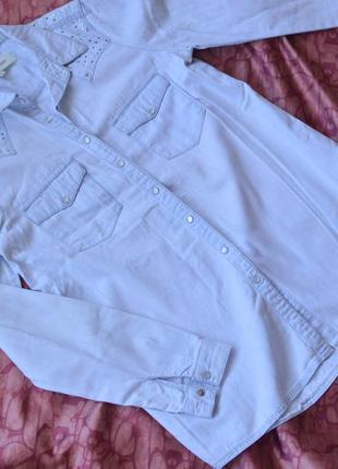 Стильная джинсовая рубашка river island