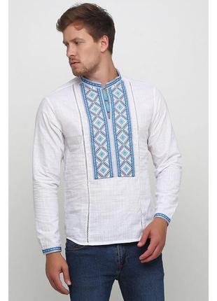 Вышиванка вишита сорочка з вишивкою льон р.46-56 кольори наложенный платеж