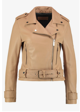 Новая косуха бежево-карамельного цвета oakwood, франция премиум куртка100% кожа